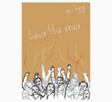 Hear the roar - UCI Cycling Geelong Tee by GordonGraphics