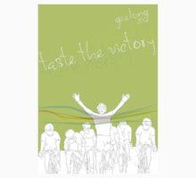 Taste the victory - UCI Cycling Geelong Tee by GordonGraphics
