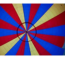 Looking up in the Hot Air Balloon Photographic Print