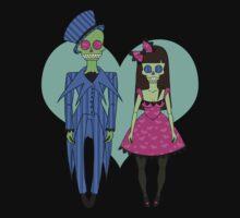 Skull Couple One Piece - Long Sleeve