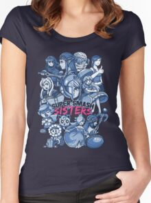 SUPER SMASH SISTERS Women's Fitted Scoop T-Shirt