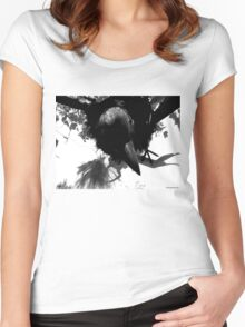 Barbie Attacked by Giant Monsterbird Women's Fitted Scoop T-Shirt