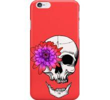 Chrysanthemum Eye Skull - Red iPhone Case/Skin