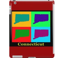 Colorful Connecticut State Pop Art Map iPad Case/Skin