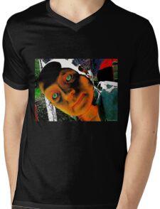 Hugo, Man of a Thousand Faces Hits the Acid Mens V-Neck T-Shirt