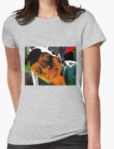 Hugo, Man of a Thousand Faces Hits the Acid Womens Fitted T-Shirt