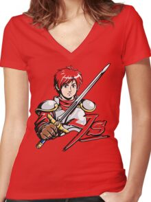Ys - Adol (Red) Women's Fitted V-Neck T-Shirt