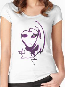 ANIME CHAOS ORIGINAL minimal Women's Fitted Scoop T-Shirt