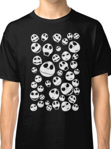 Halloween Ghost emoticon face pattern Classic T-Shirt
