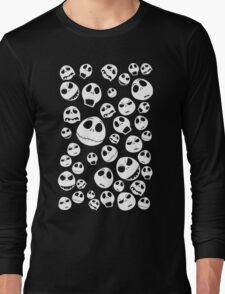 Halloween Ghost emoticon face pattern Long Sleeve T-Shirt