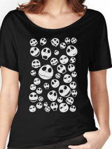 Halloween Ghost emoticon face pattern Women's Relaxed Fit T-Shirt
