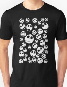 Halloween Ghost emoticon face pattern Unisex T-Shirt