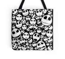 Halloween Ghost emoticon face pattern Tote Bag