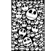 Halloween Ghost emoticon face pattern Photographic Print