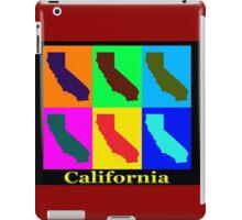 Colorful California State Pop Art Map iPad Case/Skin