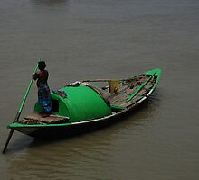 The green Boat  by JYOTIRMOY Portfolio Photographer