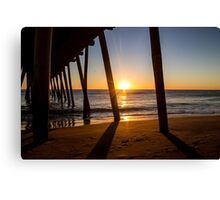 Sunrise Beneath the Pier Canvas Print