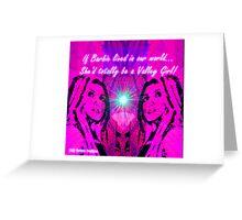 818 Barbie Greeting Card