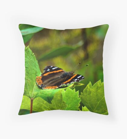 Furry Flying Friend Throw Pillow