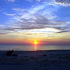 Sunset St. George Island by RebeccaBlackman