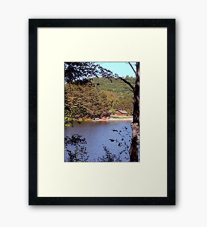 A Sneak Preview Framed Print
