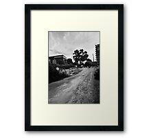 Inselstraße Framed Print
