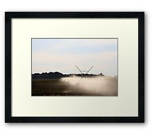Irrigation... 001 Free State, South Africa  Framed Print