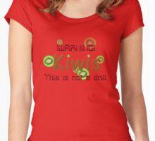!Warning! Kiwis!!! Women's Fitted Scoop T-Shirt