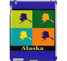 Colorful Alaska State Pop Art Map iPad Case/Skin