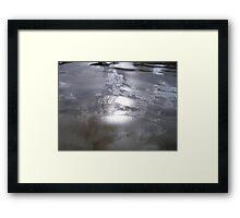 Reflections,sun,sky, clouds. Framed Print