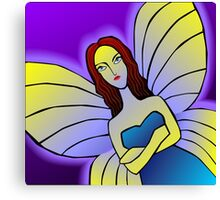 Digital painting of an angel  Canvas Print