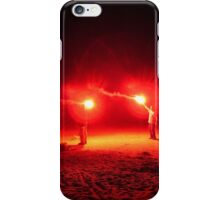 Red Flares Light Up The Night iPhone Case/Skin
