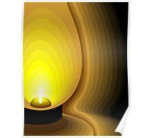 kerosene lamp Poster
