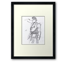 Street Fighter Ryu Framed Print