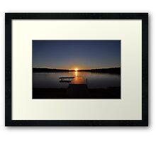 Sunset over Bear Creek Lake Framed Print