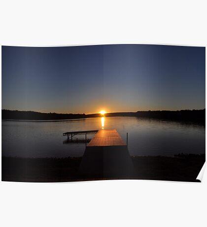 Sunset over Bear Creek Lake Poster