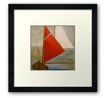 Red sail Framed Print