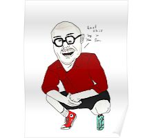 Anthony Fantano of The Needle Drop - Baseball Tee Poster