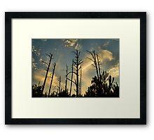 Giants In the Twilight Framed Print
