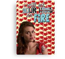 Season 5 Teen Wolf Greeting Cards [Lydia] Canvas Print