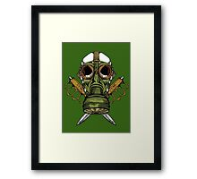 Gas Mask and Trench Knife  Framed Print
