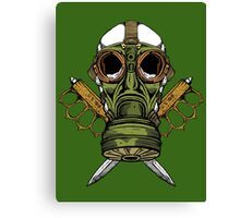 Gas Mask and Trench Knife  Canvas Print
