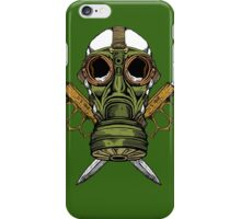 Gas Mask and Trench Knife  iPhone Case/Skin