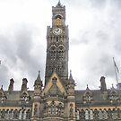 Imposing City Hall Clock ~ Bradford ~ by Sandra Cockayne