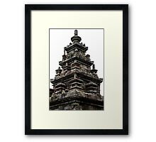 Stone Christmas Tree, Ancient Temple, Gedong Songo, Java, Indonesia  Framed Print