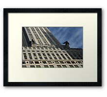 Looking Sideways, Art Deco Architecture, Chrysler Building, New York.  Framed Print