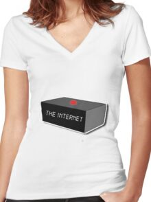 The Internet - The IT Crowd Women's Fitted V-Neck T-Shirt