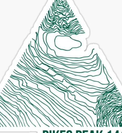 Pikes Peak Topo Sticker