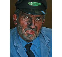 Engine Driver Photographic Print