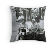 Between wife and husband... Throw Pillow